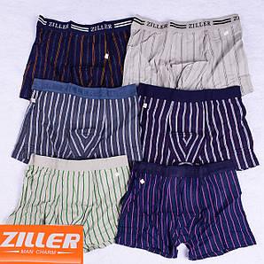 Мужские трусы боксеры  Ziller Z019,Z021-3 L 42-44. В упаковке 6 штук
