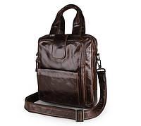 Сумка мужская портфель  City 0012 кожаный Коричневая, фото 1