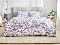 Комплект постельного белья Dormeo Геометрия  Фиолетовый  200х200 см
