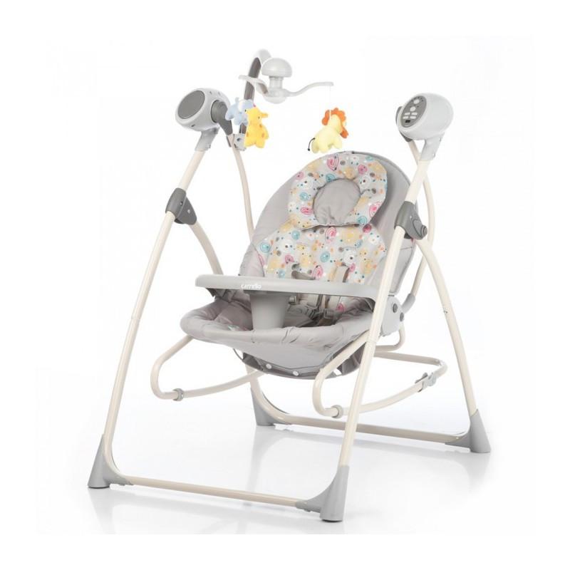 Детское кресло - качалка шезлонг CRL 0005 Grey Planet