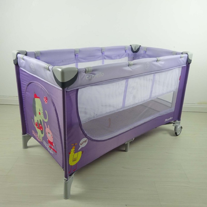 Манеж CARRELLO Piccolo+ CRL-9201 Purple со вторым дном