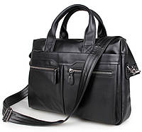 Сумка мужская портфель City 0011 кожаный Черный, фото 1