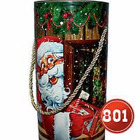 Тубус новогодний, упаковка для подарков 1 кг