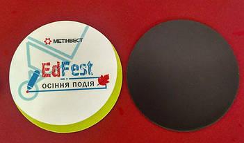Круглые рекламные фотомагнитики на заказ. Диаметр 57 мм 6
