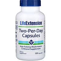 Life Extension, Капсулы Дважды-в-день, 120 капсул