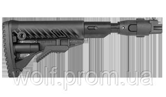 Приклад складной с амортизатором Fab Defense для карабинов на базе АКМ 47 с деревянным прикладом M4-AKPSB