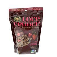 Natures Path, Love Crunch, Высококачественная органическая гранола, темный шоколад и красные ягоды, 11,5 унций (325 г)