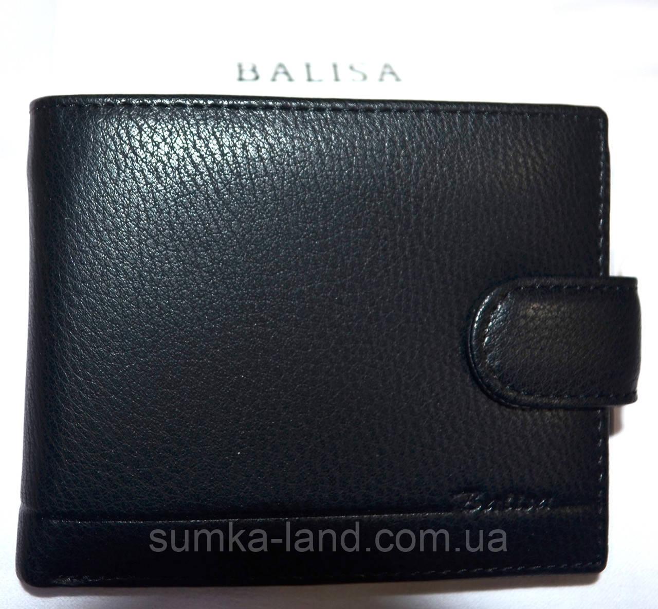 Мужской классический черный кошелек Balisa из искусственной кожи на кнопке 11,5*10 см