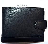 Мужской классический черный кошелек Balisa из искусственной кожи на кнопке 11,5*10 см, фото 1