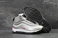 Зимние мужские кроссовки Nike 6814 белый с серым, фото 1