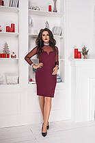 Платье БАТАЛ  в расцветках замш 703038, фото 3