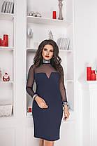 Платье БАТАЛ  в расцветках замш 703038, фото 2