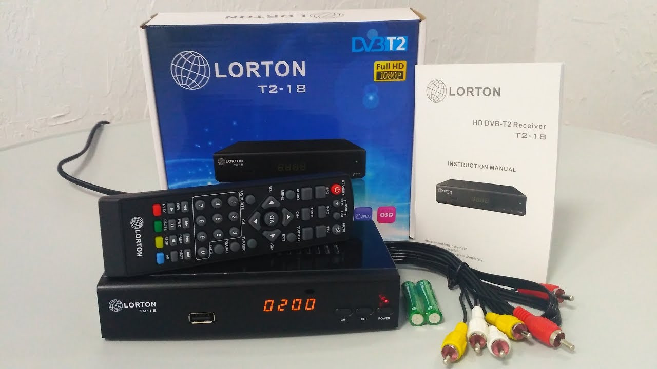 Т2 ресивер LORTON T2-18 HD, TV тюнер Т2 приемник