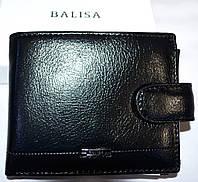 Мужской черный кошелек, портмоне Balisa из искусственной кожи на кнопке 11,5*10 см, фото 1
