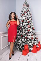 Платье БАТАЛ  в расцветках бахрома 703045, фото 2