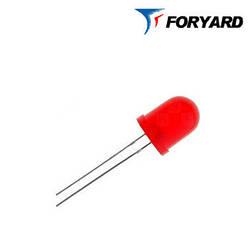 Светодиод красный 8mm. FYL8003 URC (660nm. красн; 1500mcd, 20°) круглый, диффузный 20° FORYARD