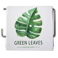 Держатель для туалетной бумаги закрытый Bathlux Green Leaves (50334)