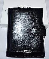 Мужской черный кошелек Balisa из искусственной кожи на кнопке 10,5*14 см, фото 1