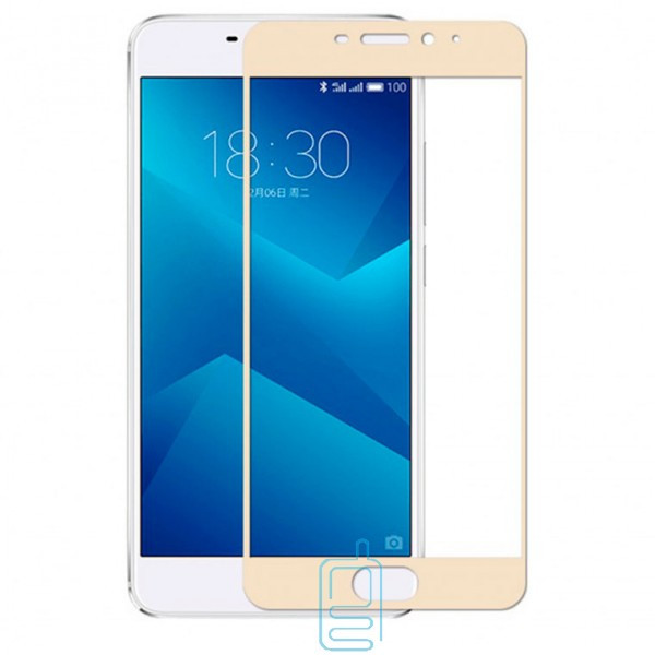 Защитное стекло Full Screen Meizu Pro 7 Plus gold тех.пакет