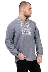 Сорочка-вышиванка Орнамент (серый)