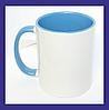 Чашка голубая