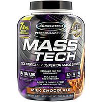 Muscletech, Mass-Tech, продвинутый гейнер для роста мышечной массы, молочный шоколад, 7,05 фунтов (3,2 кг)