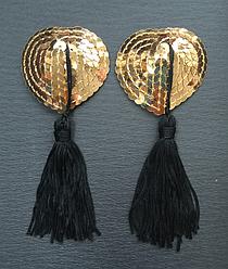 Стикини с кисточкой золотистые