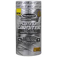 Muscletech, Платинум, 100%-ный карнитин, 180 капсул