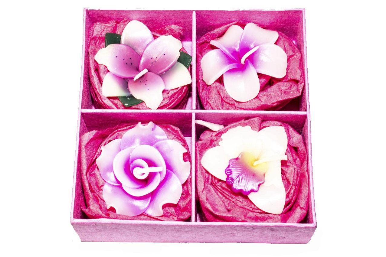 Набор из 4 свечей в подарочной коробке