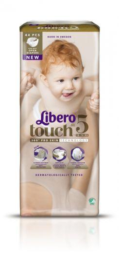 Libero Дышащие детские подгузники Touch 5 (10-14 кг), 44 шт