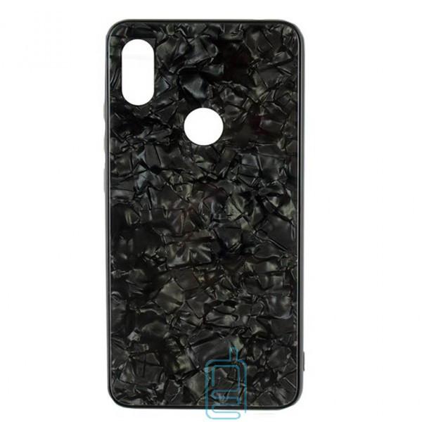 Чехол накладка Glass Case Мрамор Xiaomi Redmi S2, Y2 черный