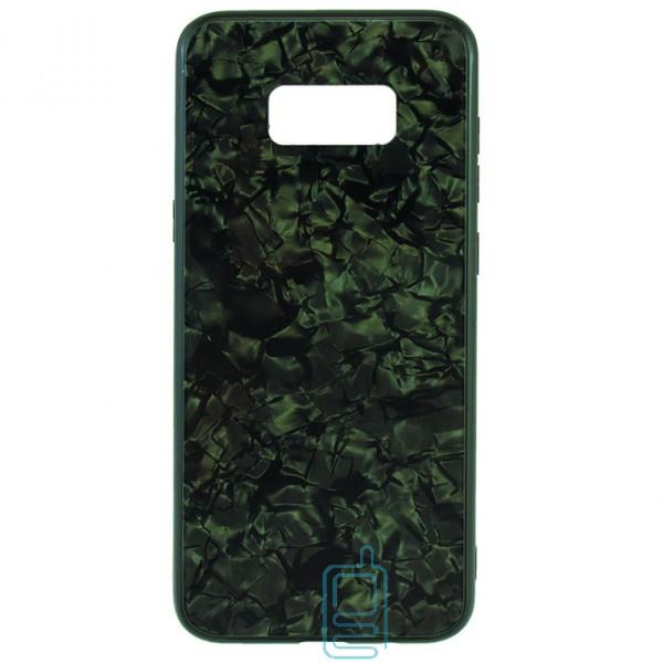 Чехол накладка Glass Case Мрамор Samsung S8 Plus G955 черный