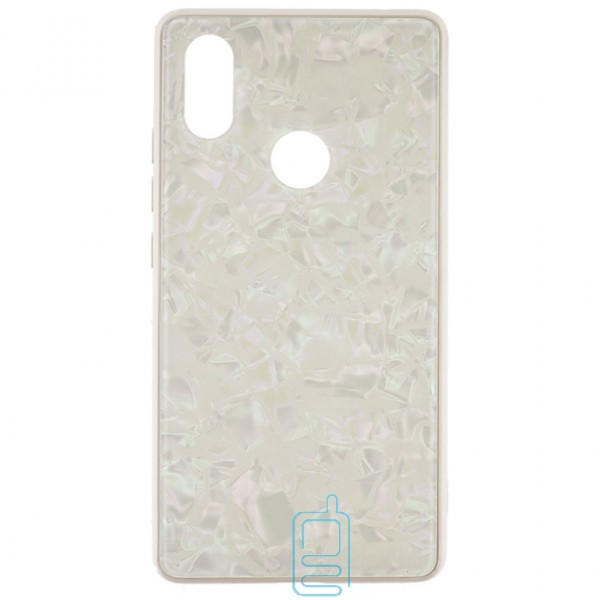 Чехол накладка Glass Case Мрамор Xiaomi Mi 8 SE белый
