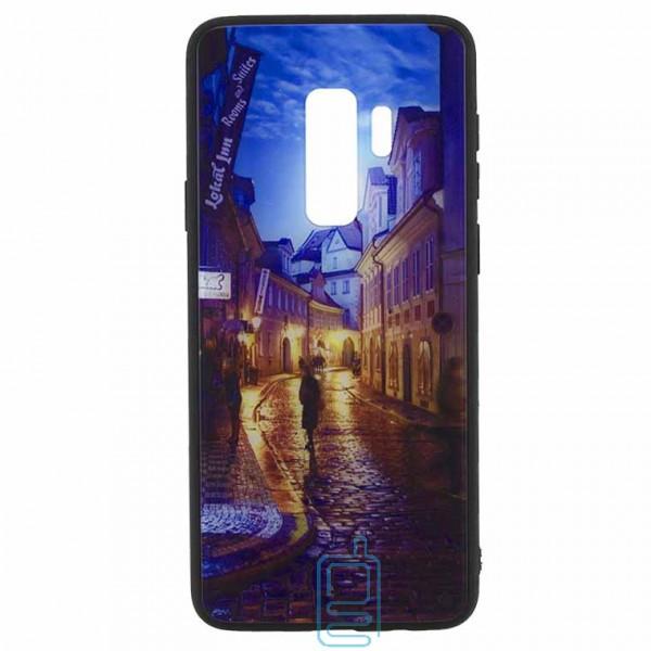 Чехол накладка Glass Case New Samsung S9 Plus G965 переулок