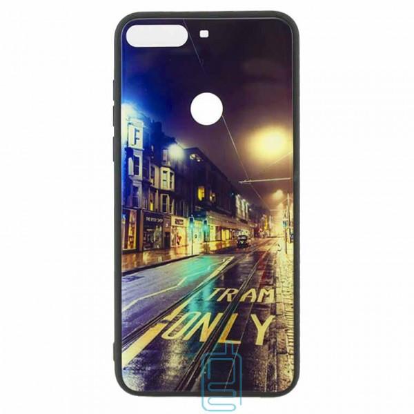 Чехол накладка Glass Case New Huawei Honor 7C Pro, Nova 2 Lite, Y7 2018, Y7 Prime 2018 дорога