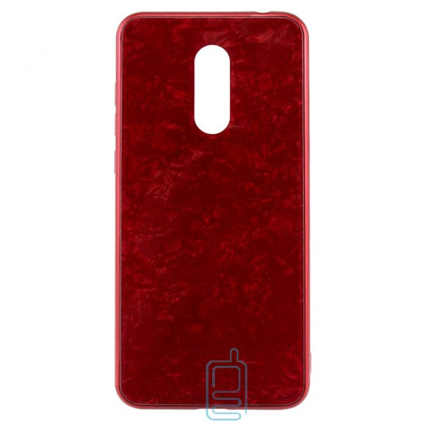 Чехол накладка Glass Case Мрамор Xiaomi Redmi 5 красный