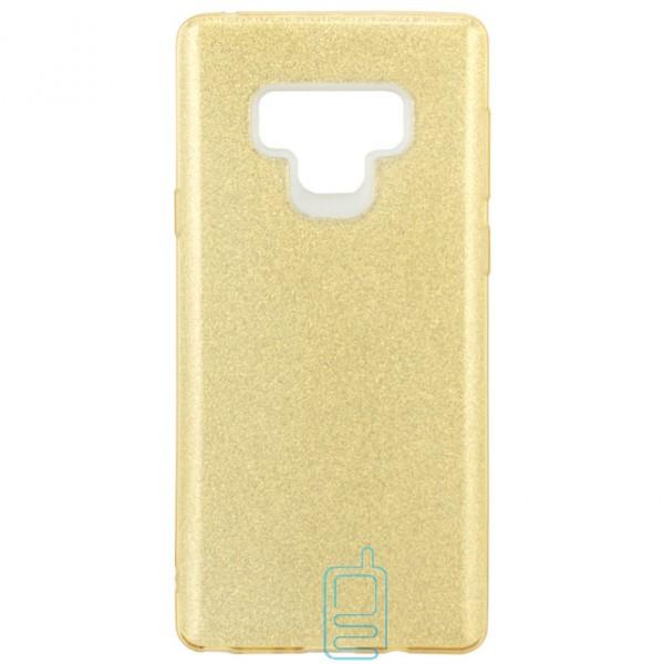 Чехол силиконовый Shine Samsung Note 9 N960 золотистый