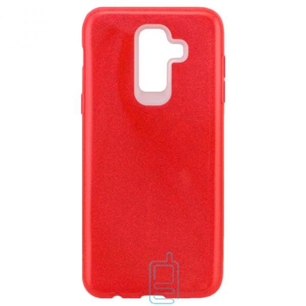 Чехол силиконовый Shine Samsung J8 2018 J810 красный