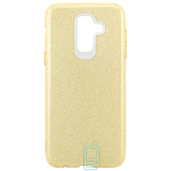 Чехол силиконовый Shine Samsung J8 2018 J810 золотистый