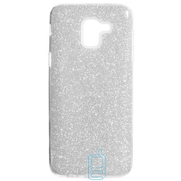 Чехол силиконовый Shine Samsung J6 2018 J600 серебристый