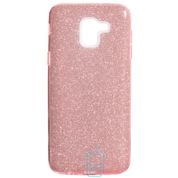 Чехол силиконовый Shine Samsung J6 2018 J600 розовый