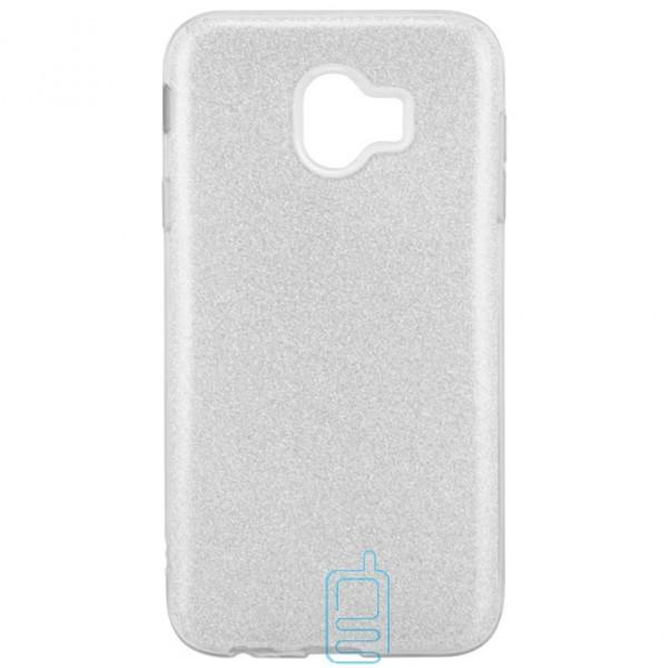 Чехол силиконовый Shine Samsung J4 2018 J400 серебристый