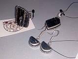 Шерл кулон с натуральным черным турмалином в серебре Индия, фото 4