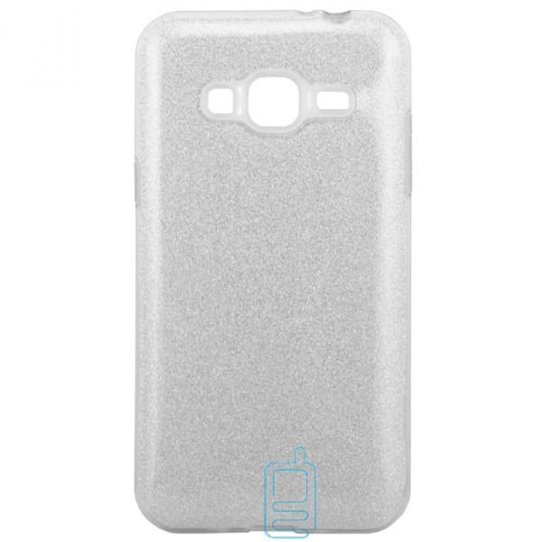 Чехол силиконовый Shine Samsung J3 2015 J300 серебристый