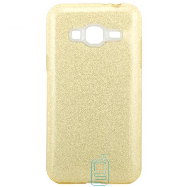Чехол силиконовый Shine Samsung J3 2015 J300 золотистый