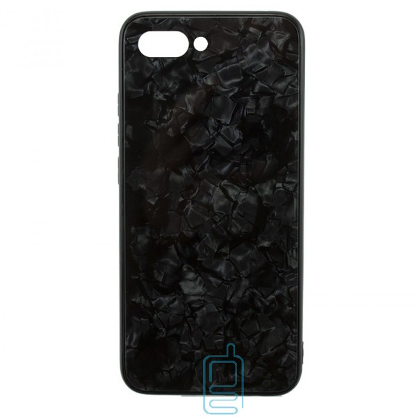 Чехол накладка Glass Case Мрамор Huawei Honor 10 черный