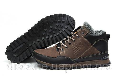 Зимние ботинки на меху New Balance Expensive, коричневые (30672), р.  [  40 41 42 43 45  ]