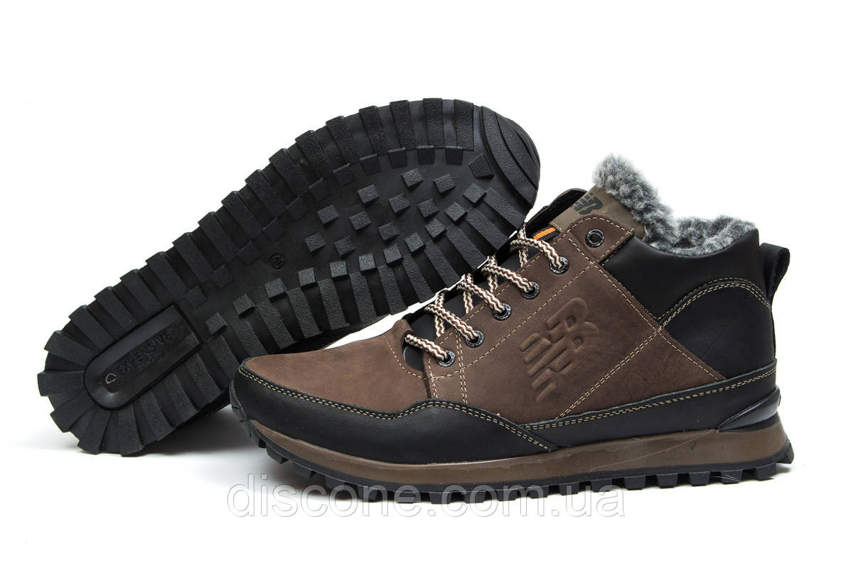 Зимние мужские ботинки 30672 ► New Balance Expensive, коричневые ✅Скидка % ► [ нет в наличии ]