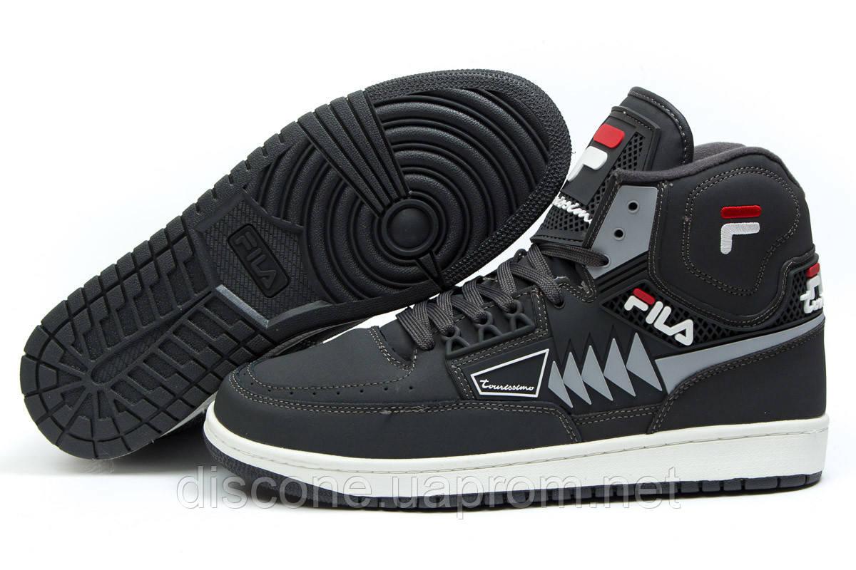 Зимние ботинки на меху ► FILA Turismo,  серые (Код: 30355) ►(нет на складе) П Р О Д А Н О!