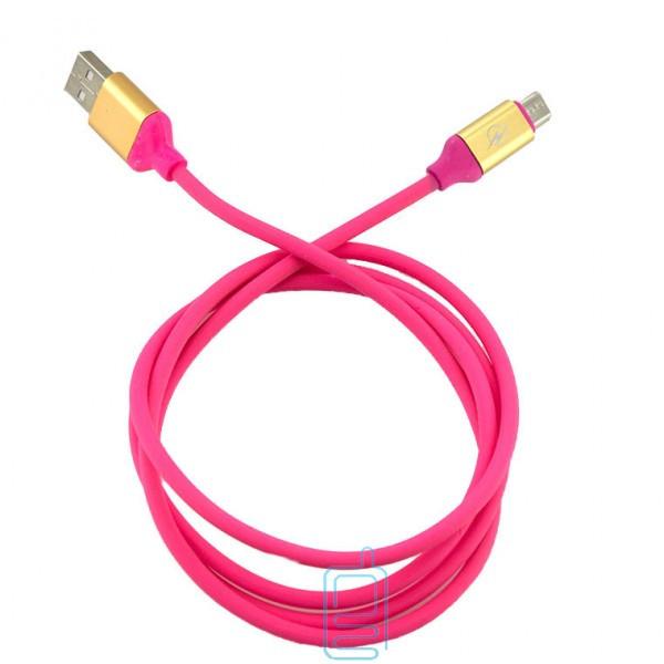 Кабель USB - Micro (силикон однотонный) 1.2m розовый